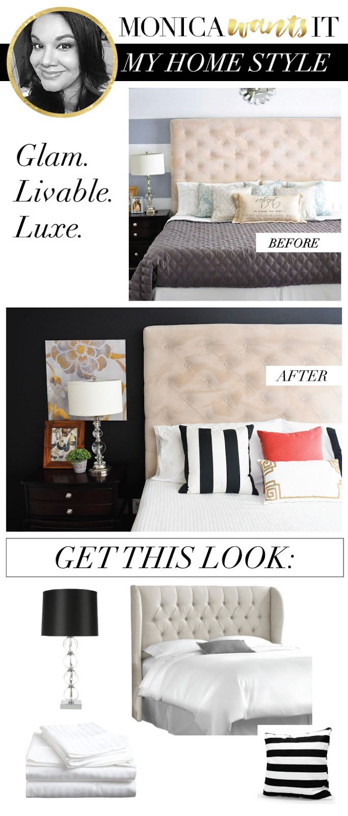 Learn how to get glam, livable luxe decor in your home.