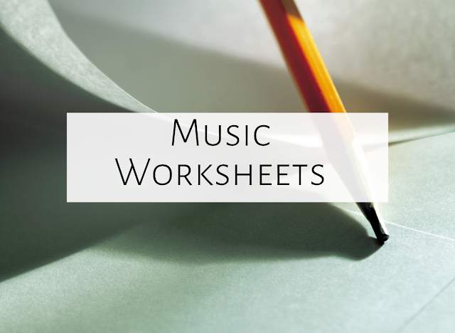 Worksheets in the music room