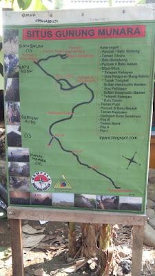Gunung Munara Peta Jalur Pendakian