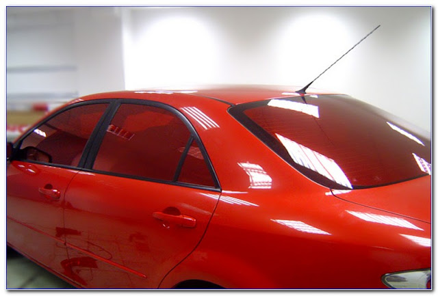 Red Reflective WINDOW TINT Film Pictures