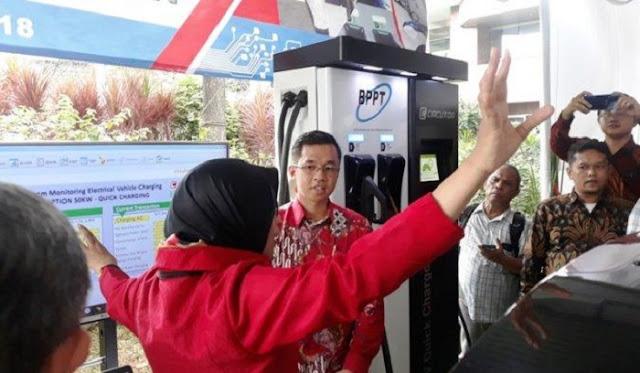 Stasiun Pengisian Daya Mobil Listrik Resmi Diluncurkan BPPT, Disini Lokasinya
