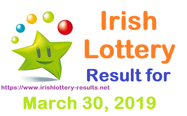 Irish Lottery Result for Saturday, 30 March 2019