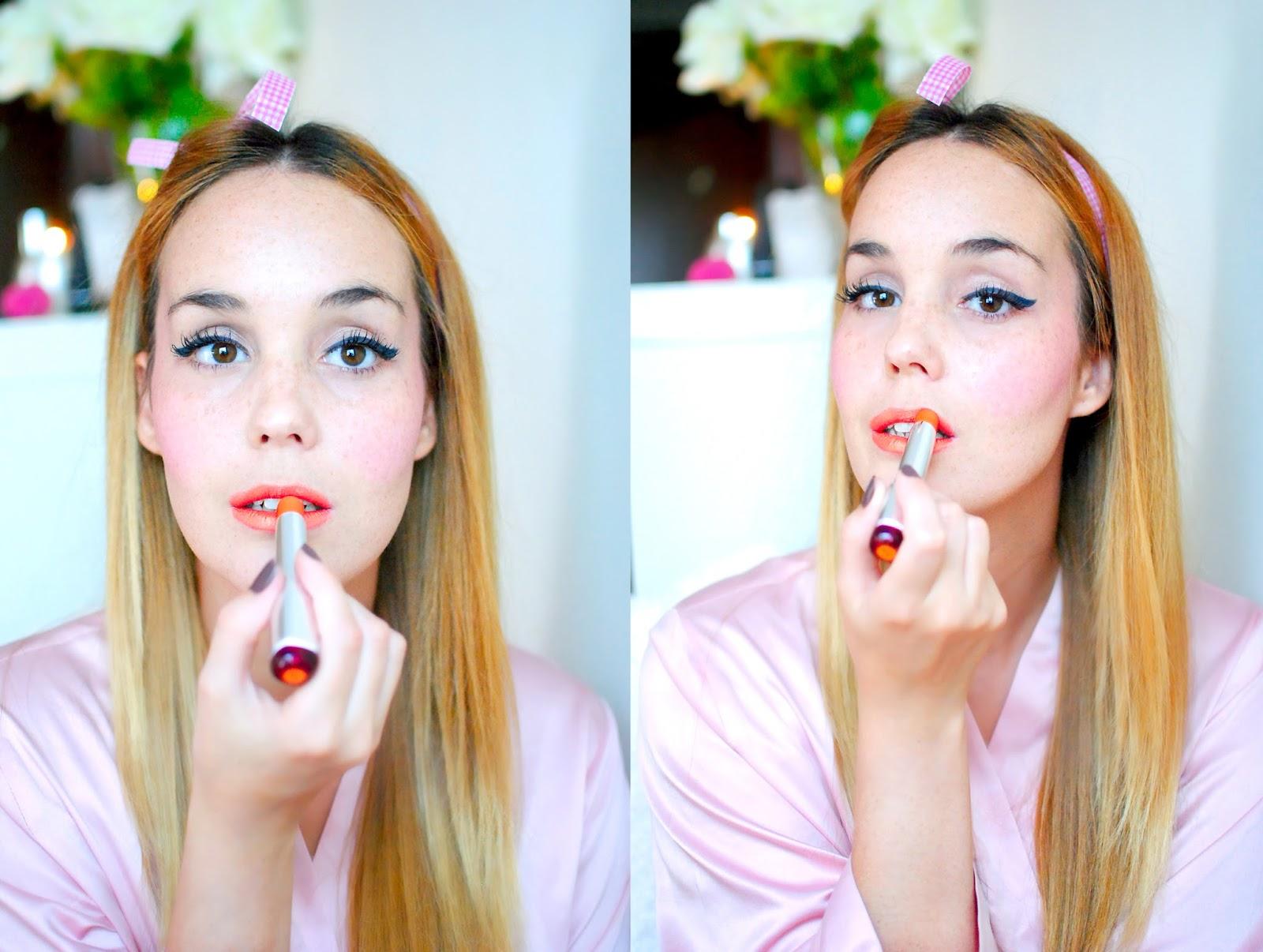 nery hdez, makeup tutorial, flormar, pin up make up tutorial, beauty , blonde,