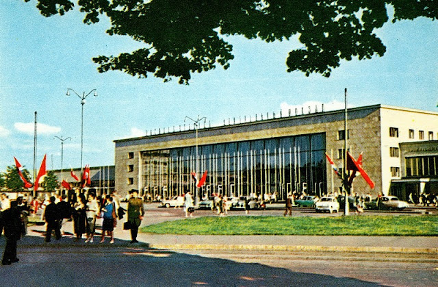 1962 год. Рига. Здание Рижского центрального вокзала.