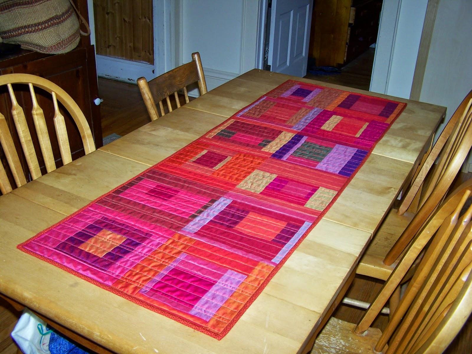 Sunlight In Winter Quilts Modern Blocks Table Runner