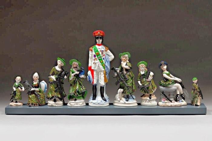 Восстановленые керамические фигурки. Penny Byrne