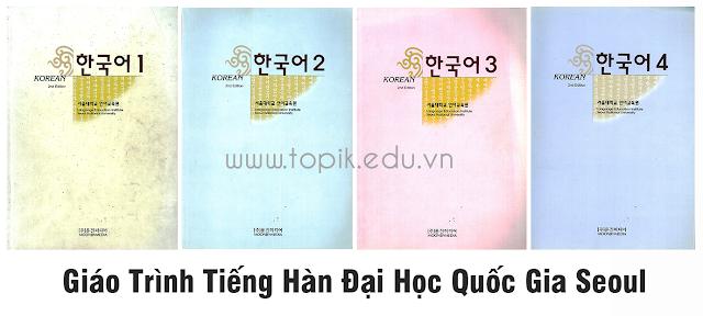 Bộ 4 Giáo trình Tiếng Hàn Đại Học Quốc Gia Seoul