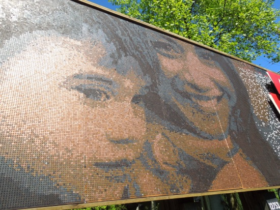 Vancity mosaic pennies billboard