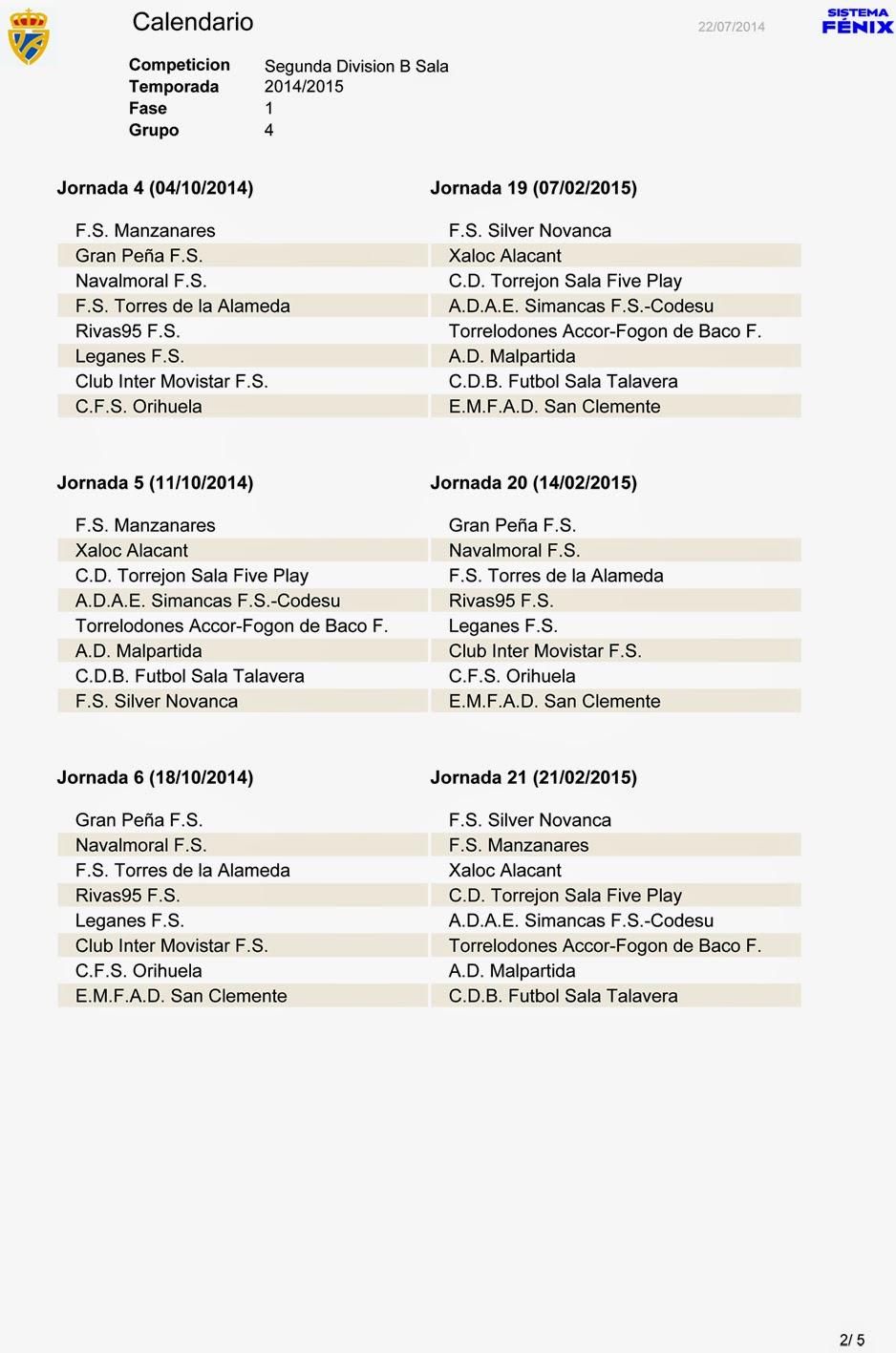 Calendario De Segunda Division De Futbol.Manzanares En Imagenes El Calendario De La Segunda Division B