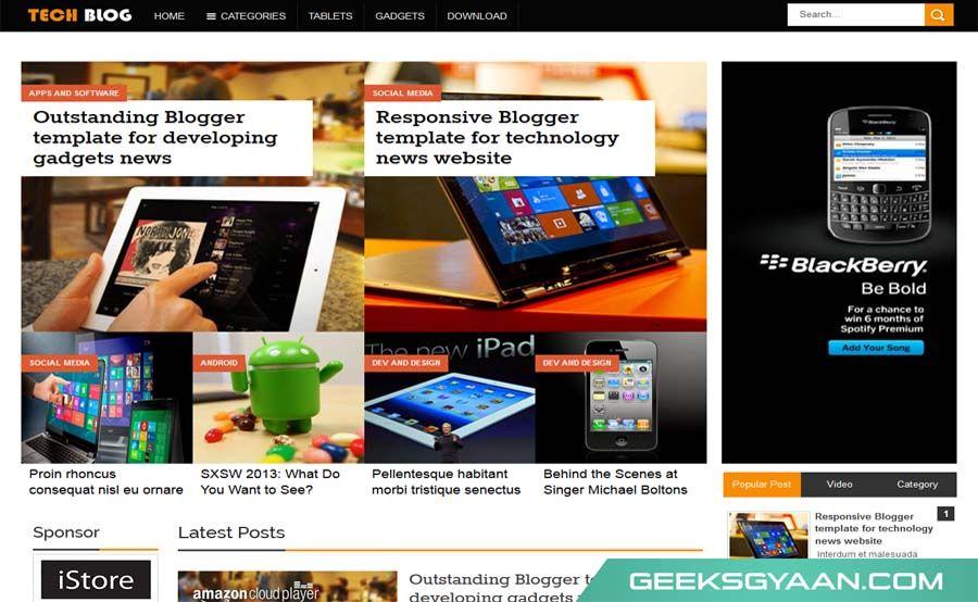 tech blogger templates