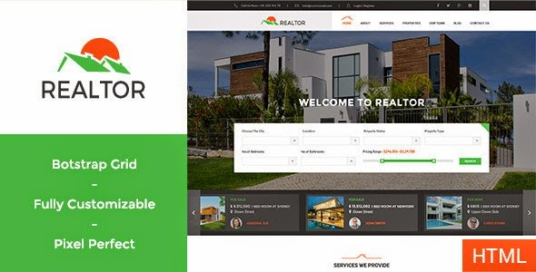 realtor real estate html template free download themeforest - Html Templates Free Download