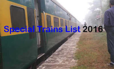 Complete List of Special Trains 2016 available on Indian Railways IRCTC
