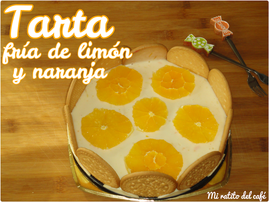 Tarta fría de limón y naranja