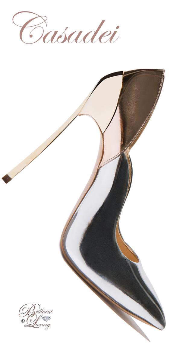 Brilliant Luxury ♦ Casadei Techno Mirrored Blade Pump