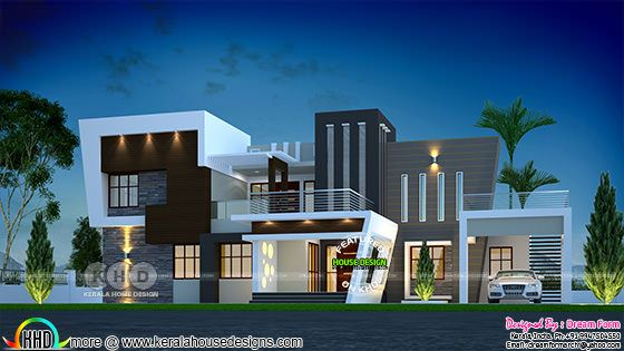 Ultra modern 4 bedroom Kerala residence plan