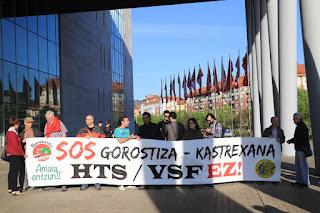 protesta contra la VSF ante BEC