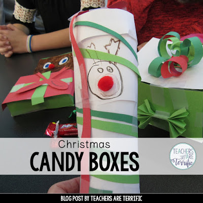 STEM Challenge: Make a perfectly sized box to hold Christmas Candy!