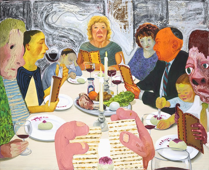"Nicole Eisenman's ""Seder,"" in Masterpieces & Curiosities show at The Jewsish Museum in NYC"