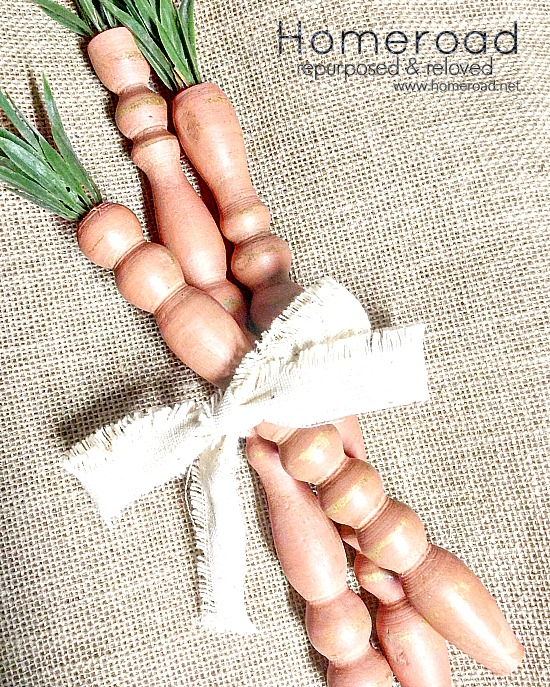 Do it Yourself Spindle Rustic Easter Carrots