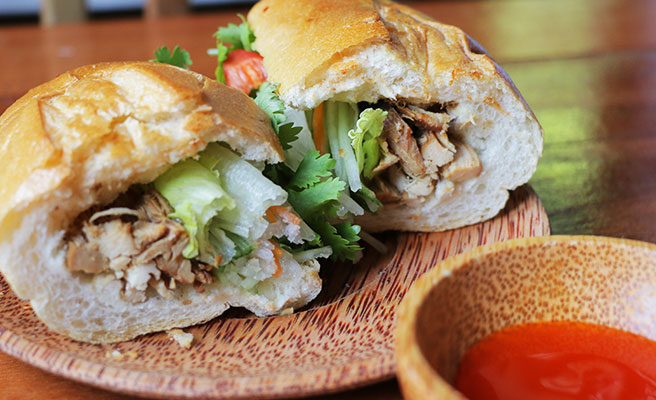 Shredded Chicken Baguette