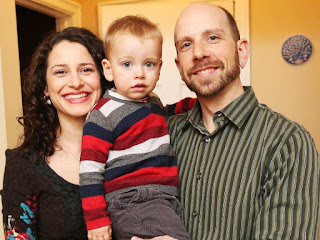 Family Portrait Of Craig His Wife France Pascale Mnard And