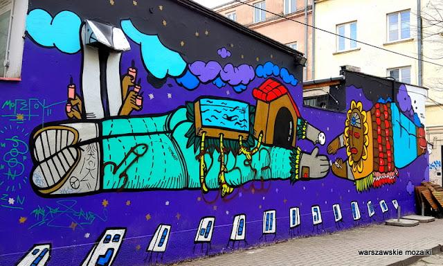Warszawa Warsaw mural streetart Nowy Świat