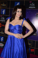 Mannara Chopra in Deep Neck Blue Gown at Zee Telugu Apsara Awards ~  Exclusive 008.jpg