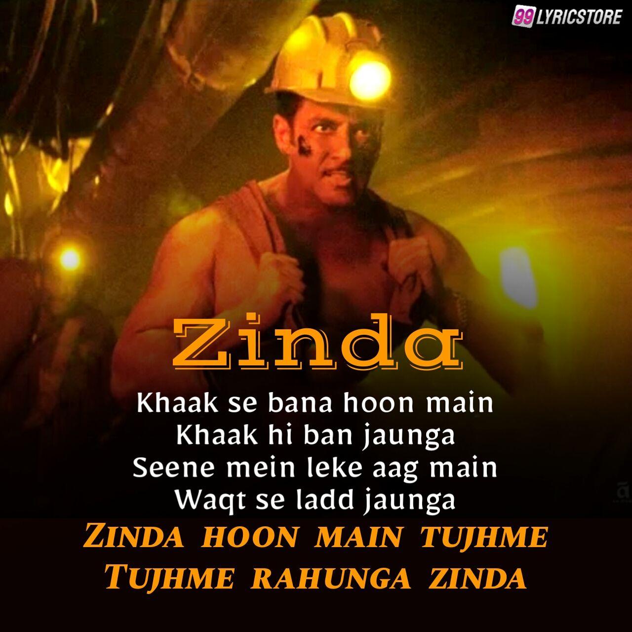 Zinda Hindi Songs Lyrics from movie Bharat sung by Vishal Dadlani