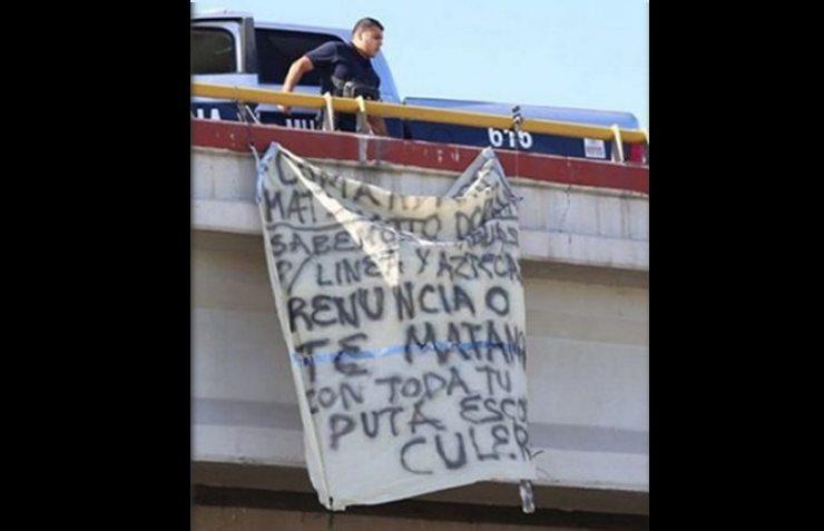 Amanecen amenazas en narcomanta vs mando policial en Ciudad Juárez