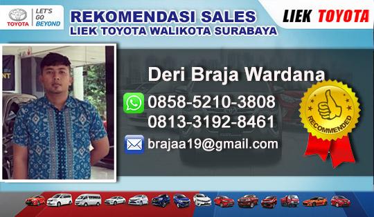 Rekomendasi Sales Liek Toyota Walikota Mustajab Surabaya