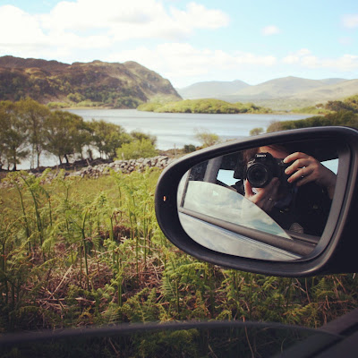 While driving across Ireland. Photo of and by Elena Rosenberg.