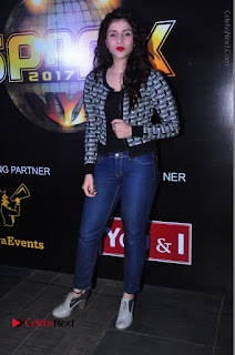 Actress Mannara Chopra Stills in Jeans at Sparx 2017 Curtain Raiser Event  0199.JPG