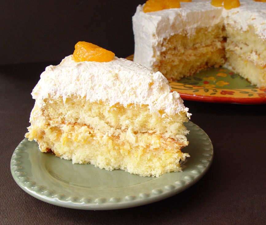 Orange Cake With Pineapple Cool Whip Frosting