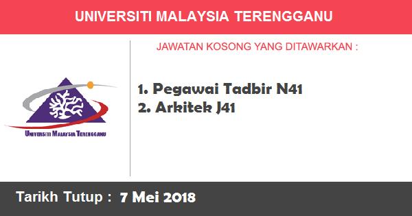 Jobs in Universiti Malaysia Terengganu (UMT) (7 Mei 2018)