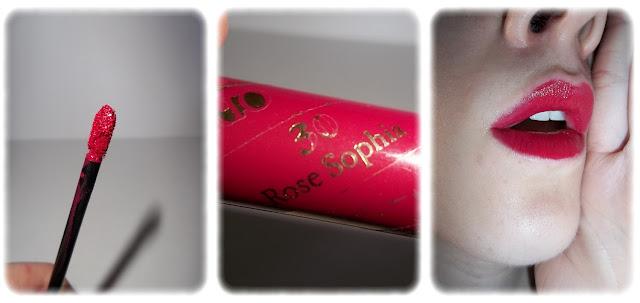 Swatch Gloss Lip Brio - Lancôme - Teinte 30 Rose Sophia