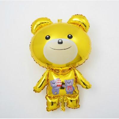 Balon Foil Karakter Teddy Bear Kuning