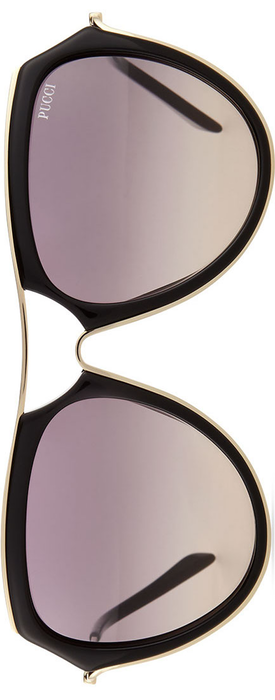 Emilio Pucci Large Aviator Sunglasses