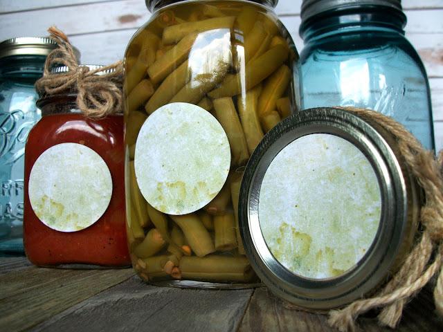 Antique Olive Canning Jar Labels