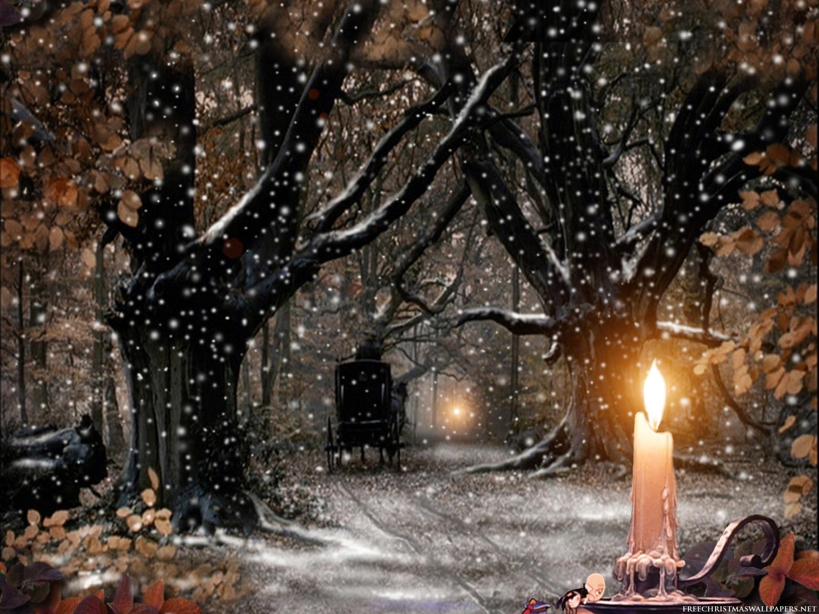 christmas snow wallpaper desktop