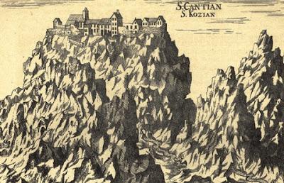 Grabado con las cuevas de Skocjan
