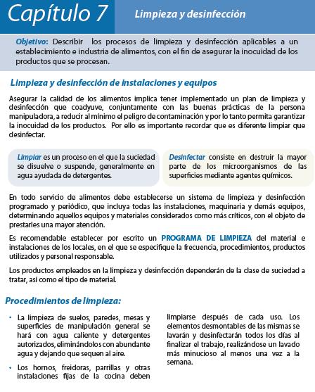 Limpieza y desinfeccion en la cocina octubre 2016 for Manual de limpieza y desinfeccion en restaurantes