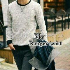 jual sweater-m polos sweater-l putih pria