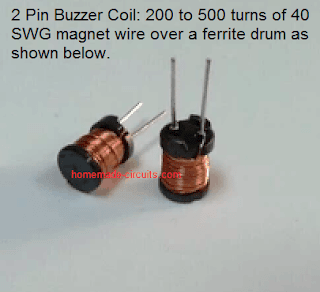 piezo buzzer inductor coil image