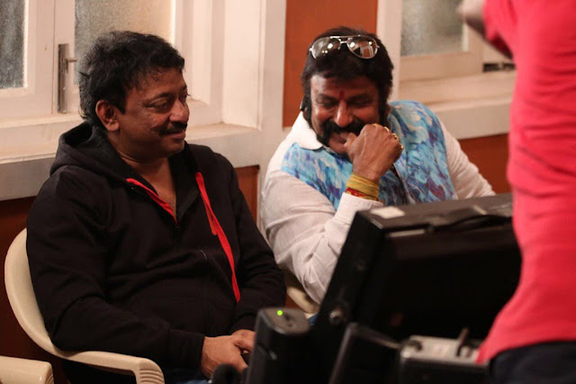 balakrishna meets RGV on the sets of sarkar 3