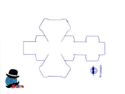 modello scatoline esagonale