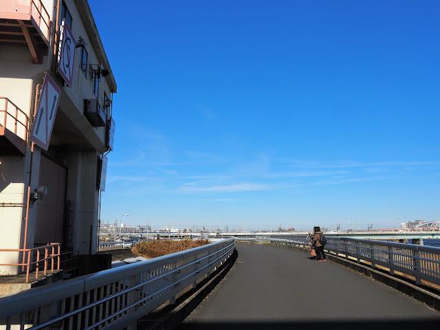 荒川自転車道 堀切水門