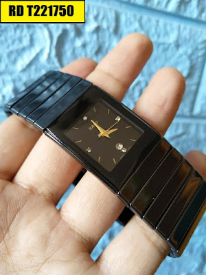 Đồng hồ Rado dây đá ceramic vàng RD T221750