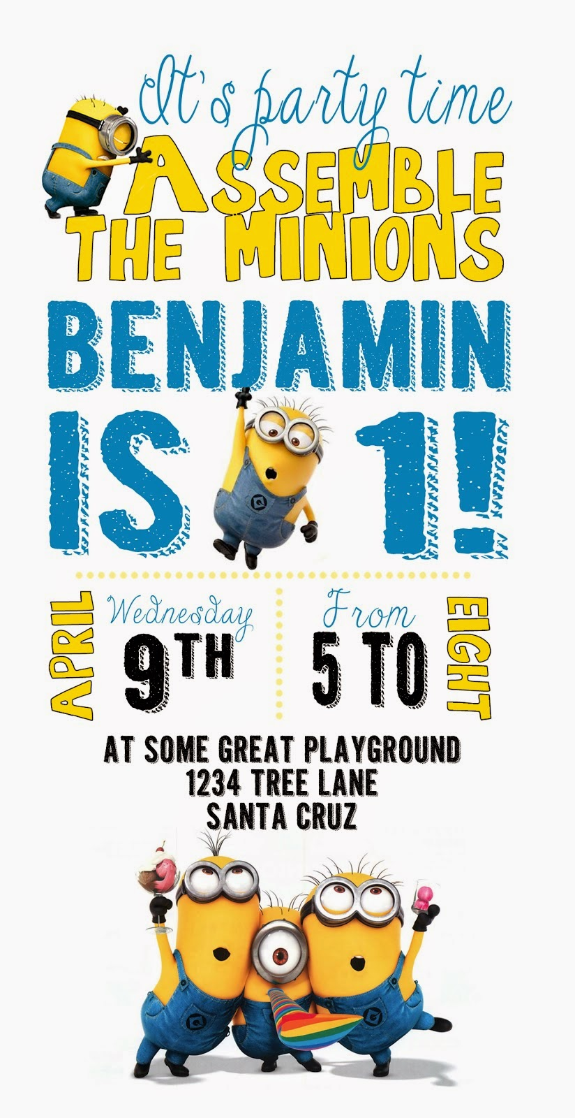 graphic relating to Minion Printable Invitations identify Good Minions: Free of charge Printable Invites. - Oh My Fiesta! inside