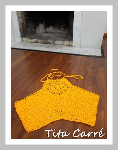 Cropped Sol em crochet