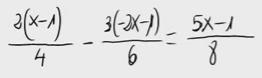 22. Ecuación de primer grado